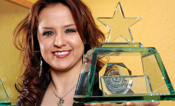 shelly_lares_tejano_music_trophy